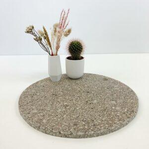 Marmeren ronde plaat