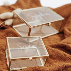 Set gegraveerde juwelenkistjes