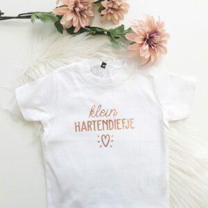 T-shirt 'Klein hartendiefje'